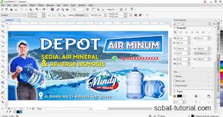 Cara Membuat Spanduk Air Minum Isi Ulang CDR
