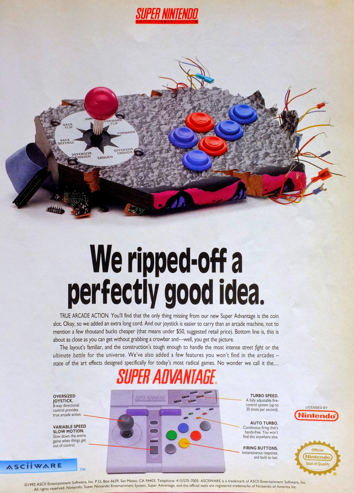 Super Advantage for SNES advertisement