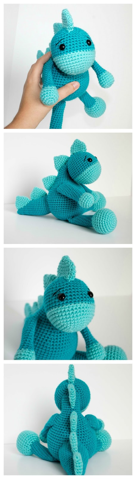 Free Crochet Dinosaur Pattern The Friendly Dino Thefriendlyredfox