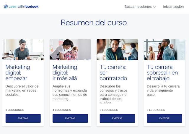 4 Cursos Gratuitos online sobre Marketing que ofrece Facebook
