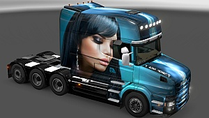 Scania T Beautiful Girl skin