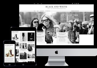 Black & White Free Magazine Wordpress Theme