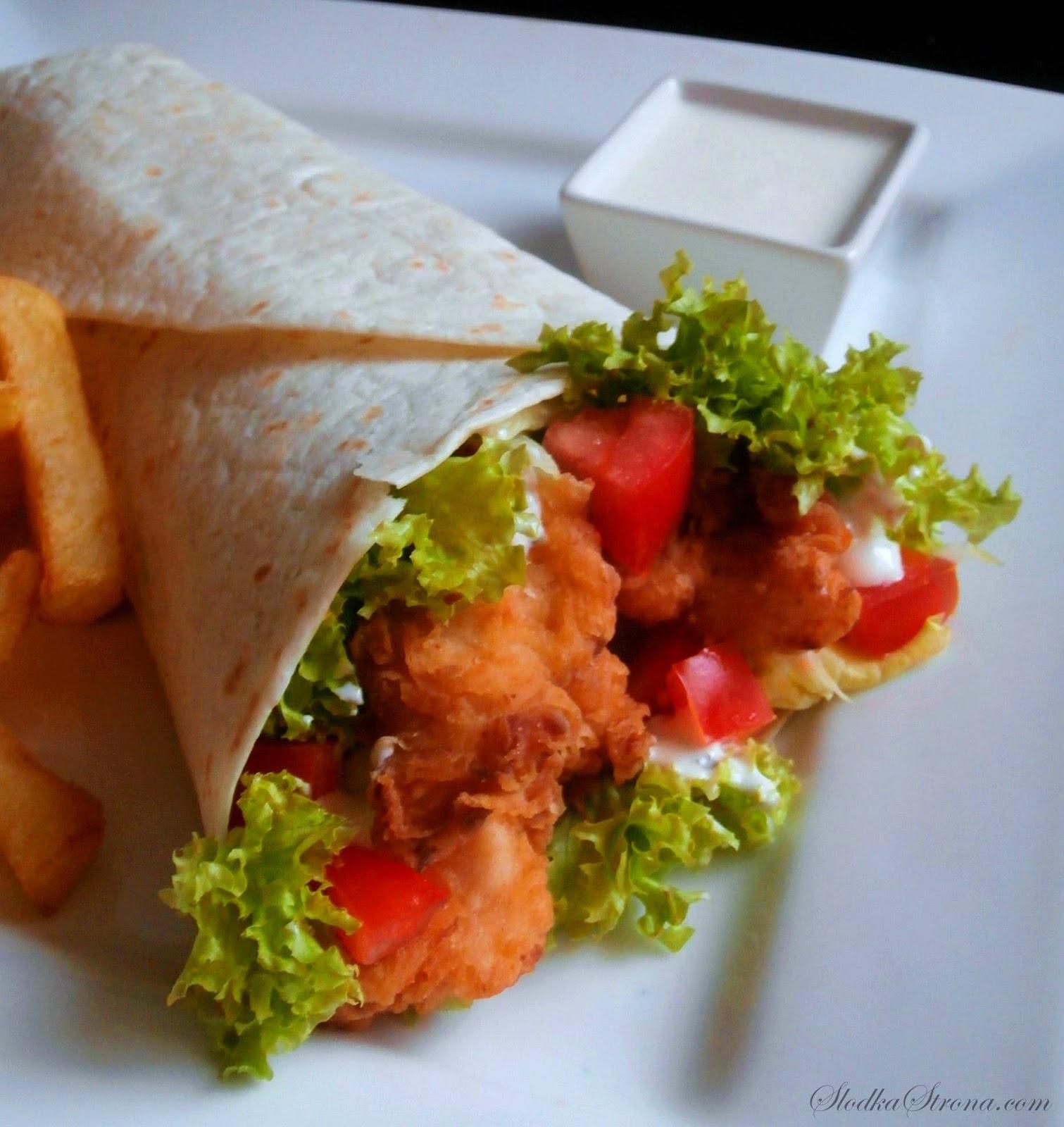 Domowy Twister jak z KFC - Przepis - Słodka Strona