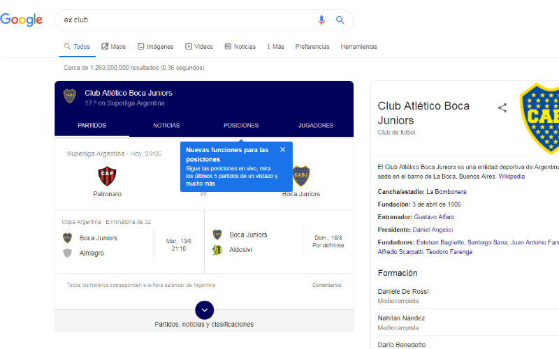 Ex club en Google