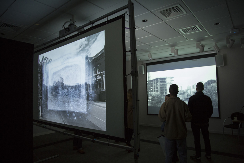 Michael C Coldwell photographer and artist projection work installation