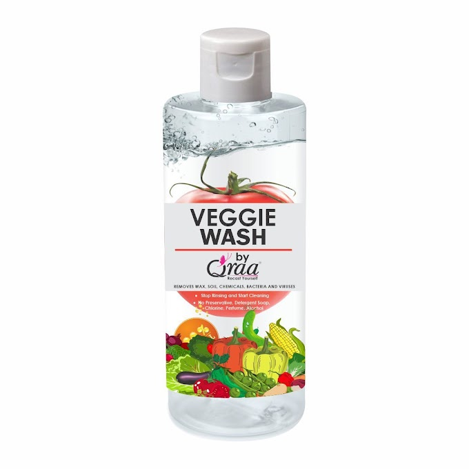 Product review - Qraa Herbals Launches Veggie Wash to sanitize Fruits & Vegetables