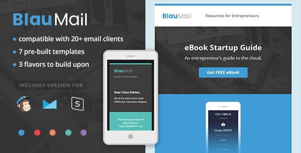 BlauMail  Responsive Apple Mail Template Download