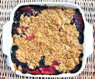 Scottish Rhubarb & Berry Crumble