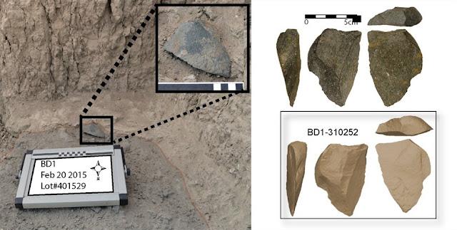 Human ancestors invented stone tools several times