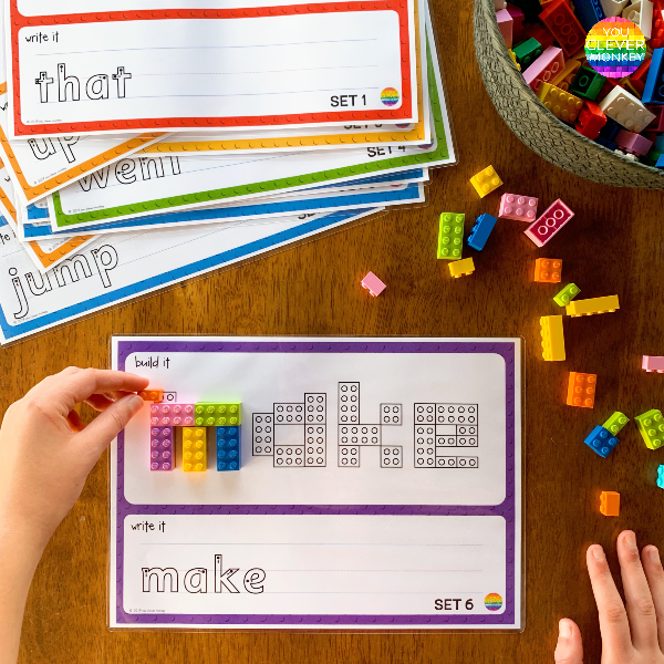 LEGO Sight Word Mats | you clever monkey