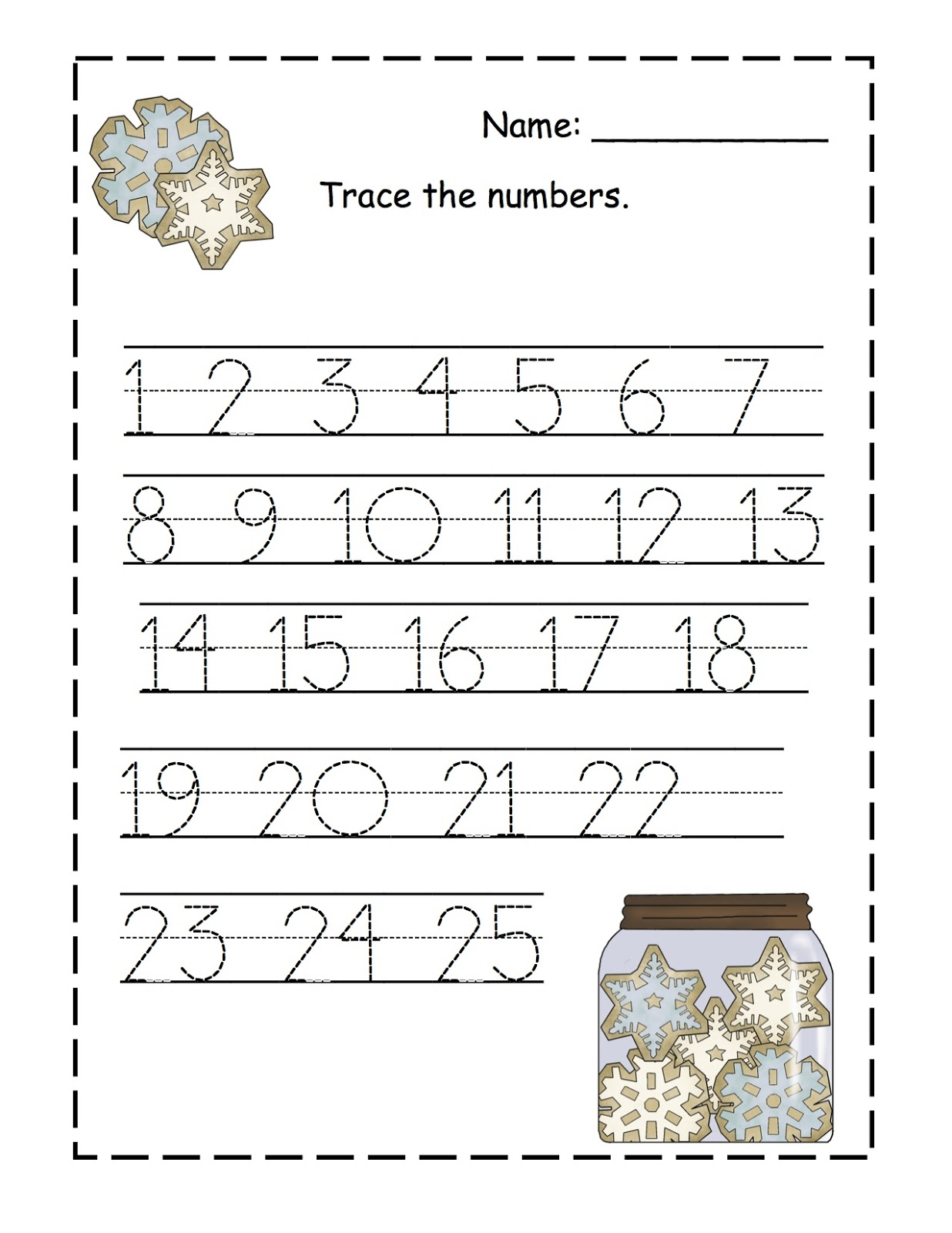 Number Tracing 1 To 20 Images