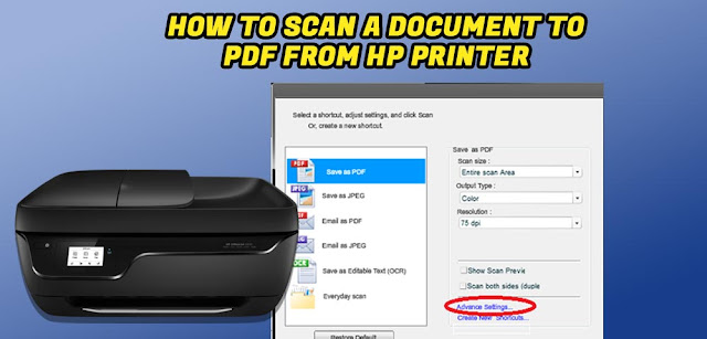 Scan a Document to PDF from HP Printer