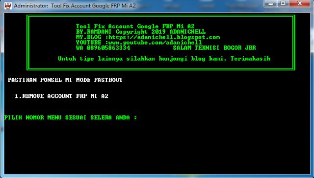 Fix FRP Account Google Xiaomi Mi A2