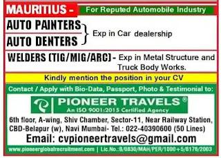 Automobile Industry Vacancies Mauritius