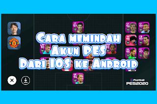Gambar akun PES IOS ke Android