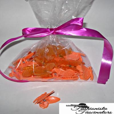 Orange butterfly hair clips Nairobi Kenya