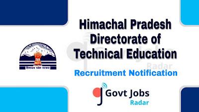 HP DTE recruitment notification 2019, govt jobs for graduate, govt jobs for diploma holders, govt jobs in hp, govt jobs in Himachal pradesh,