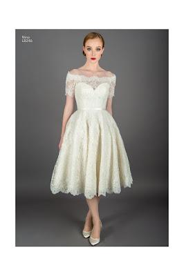 Nina Lace off shoulder short wedding dress