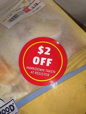 ALDI meat discount sticker