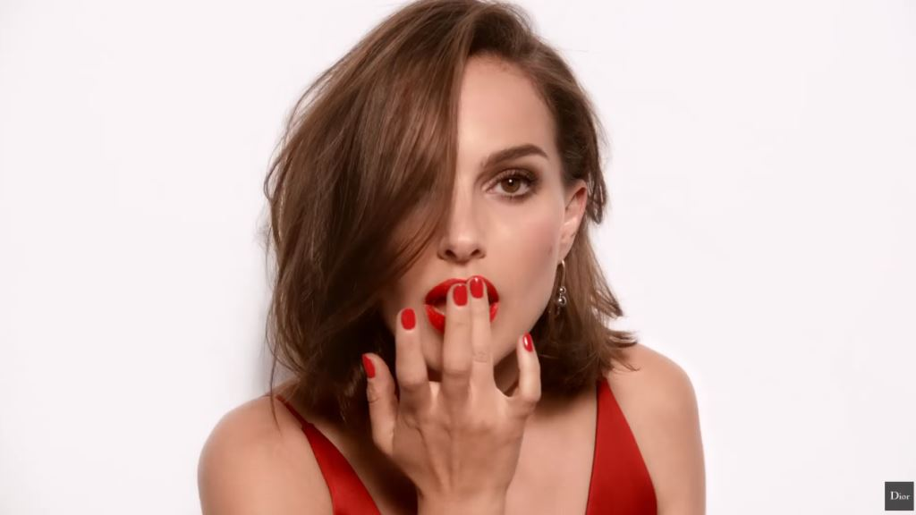 Modella pubblicità Dior Rouge rossetto con Foto - Natalie Portman Testimonial Spot Dior 2016