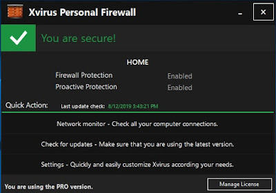 Xvirus Personal Firewall Pro with Promo Activation Key