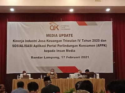 OJK Lampung Perkenalkan Aplikasi Portal Perlindungan Konsumen (APPK)