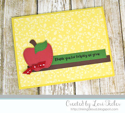 Thank You for Helping Me Grow card-designed by Lori Tecler/Inking Aloud-stamps and dies from Lil' Inker Designs