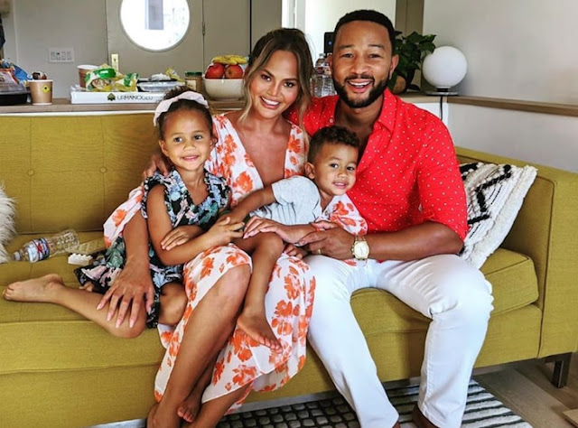 john%2Blegend%2Band%2Bfamily - John Legend and Chrissy Teigen put up their home on the market as they're about to be dad and mom once more