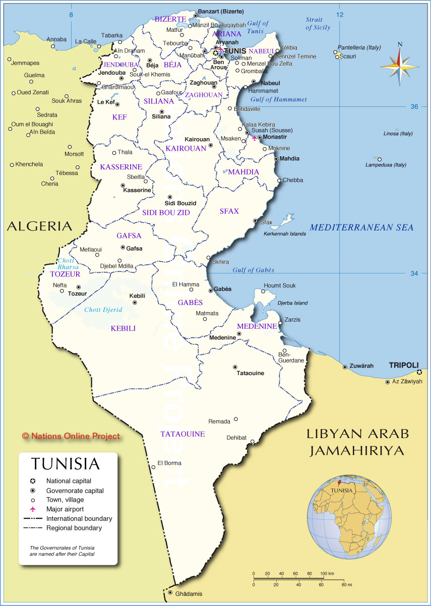 Where is Tunisia In which country is Tunisia Is it possible to rest there