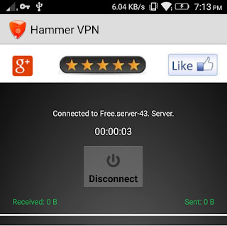 Hammer VPN dashboard