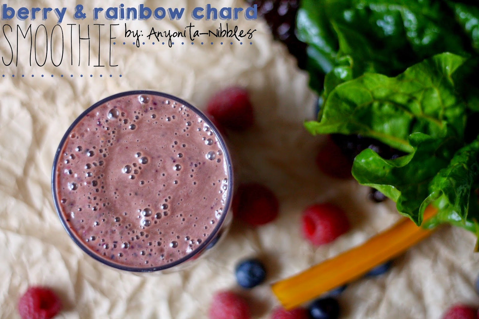 Smoothie with berries and Swiss chard from Anyonita-Nibbles.co.uk