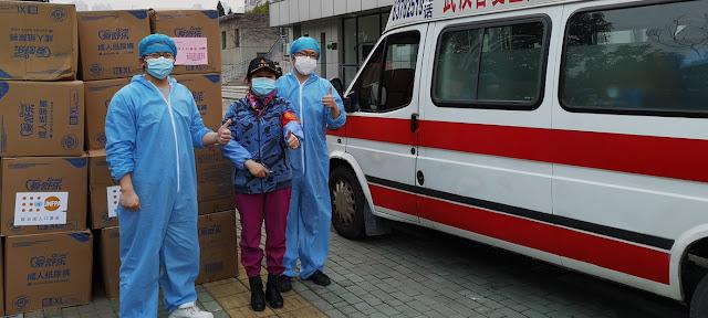 Los suministros enviados por el Fondo de Población de la ONU llegaron el 26 de febrero a Wuhan, China, para su distribución en hospitales locales.UNFPA China