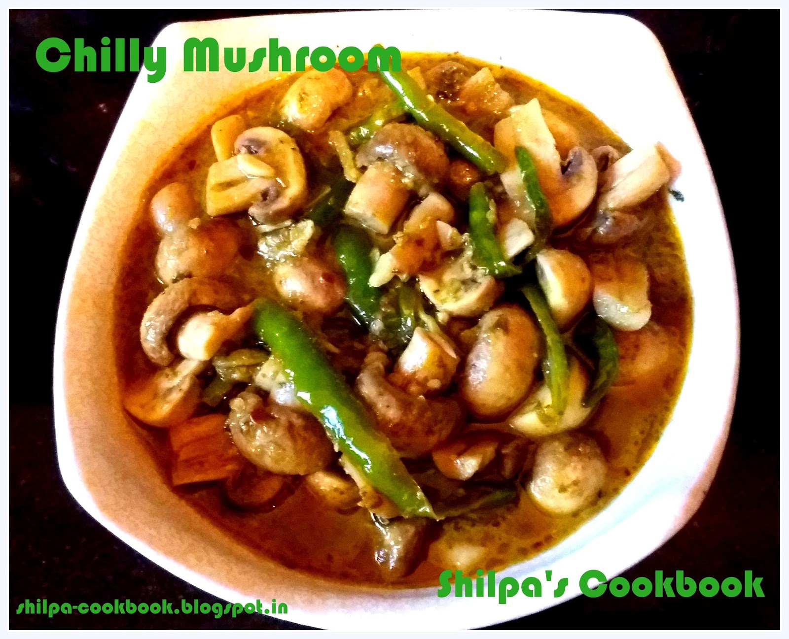Cook book dish 450 chilly mushroom andhra style dish 450 chilly mushroom andhra style forumfinder Gallery