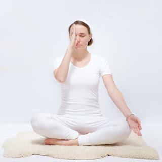 Nadi Shodhana, Nostril breathing, yoga pose, yoga exercise