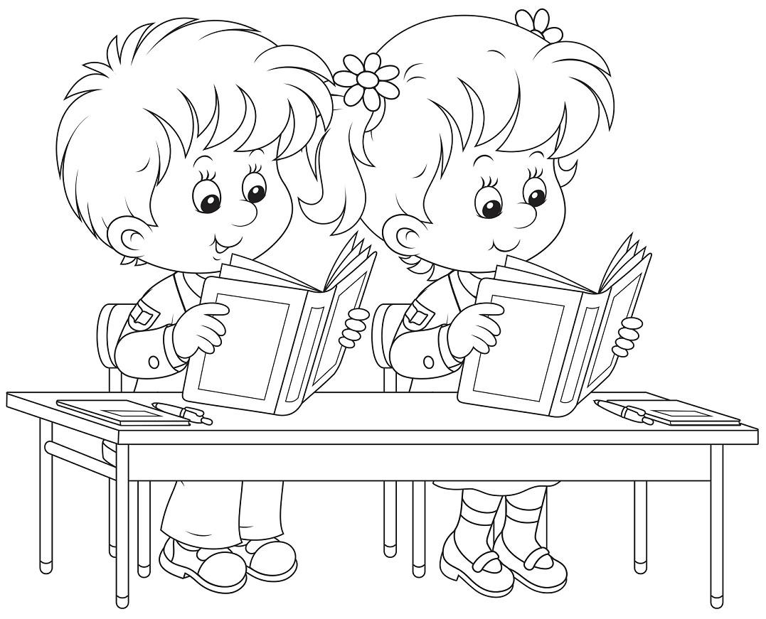 Gambar Mewarnai Anak di Sekolah