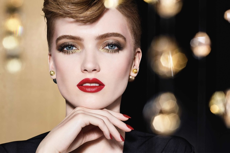 Ruth Bell stars in Dior Makeup Holiday 2020 campaign.
