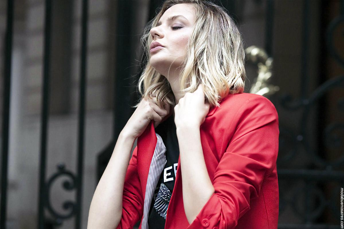 Blazer invierno 2019 rojo. Moda mujer invierno 2019.