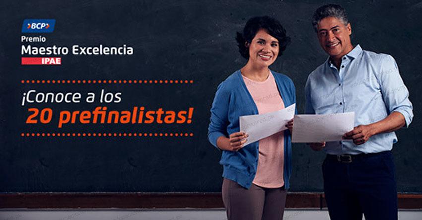 Conoce a los 20 pre finalistas del «Premio Maestro Excelencia» www.maestroexcelencia.pe