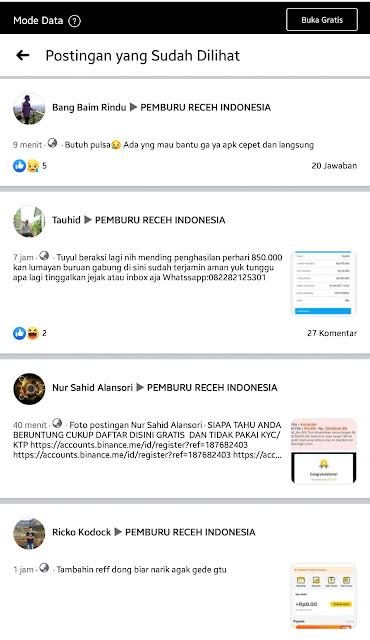 Cara Melihat Postingan Grup FB yang Sudah Pernah di Lihat