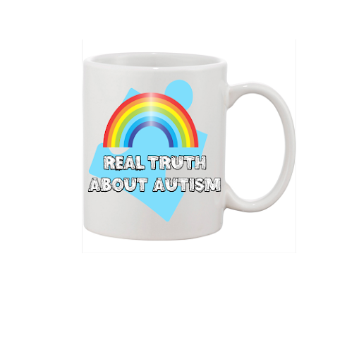 """WOW Real Truth About Autism Mug"" White Mug WIth My Logo It A Double logo Mug   £2.99 buy my mug"
