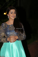 Nikki Galrani in Green Skirt  Top at Marakathamani music launch ~  Exclusive (61).JPG