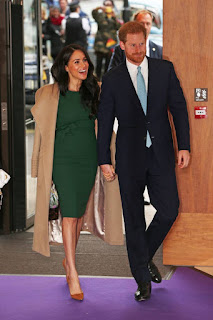 Meghan and Harry arriving at 2019 WellChild Awards in London