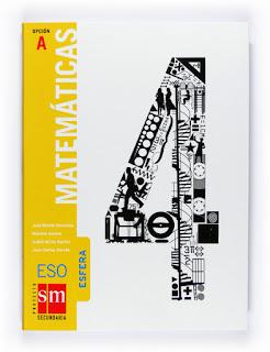 Libro Matemáticas 4º ESO SM Opción A Proyecto Esfera