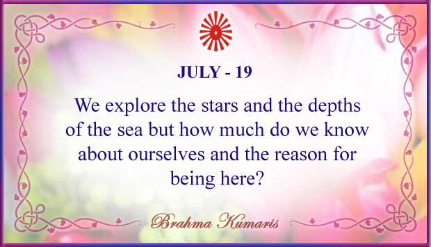 Thought For The Day July 19