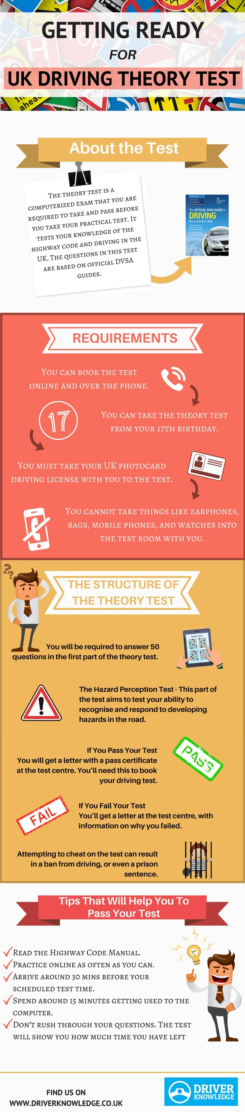 Getting Ready For UK Driving Theory Test #infographic