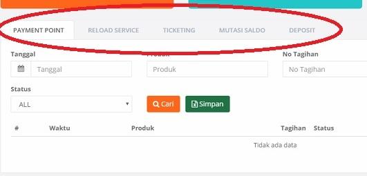 Menu Riwayat Transaksi Loket Paytren