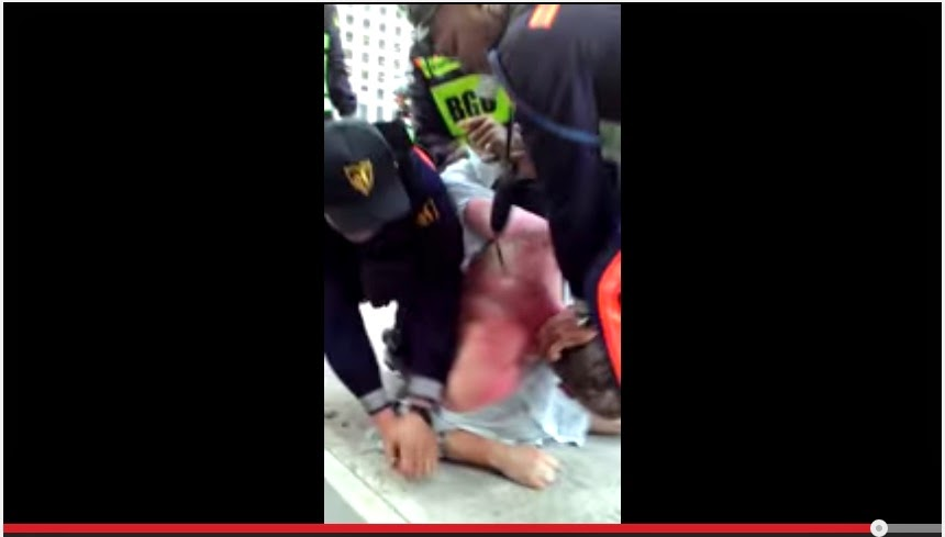 VIRAL VIDEO: BGC guards beat up, arrest British men
