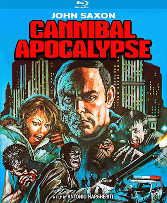 Cover art for Kino Lorber's new Blu-ray of CANNIBAL APOCALYPSE!
