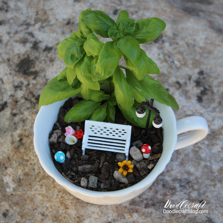 Doodlecraft: Teacup Fairy Garden!