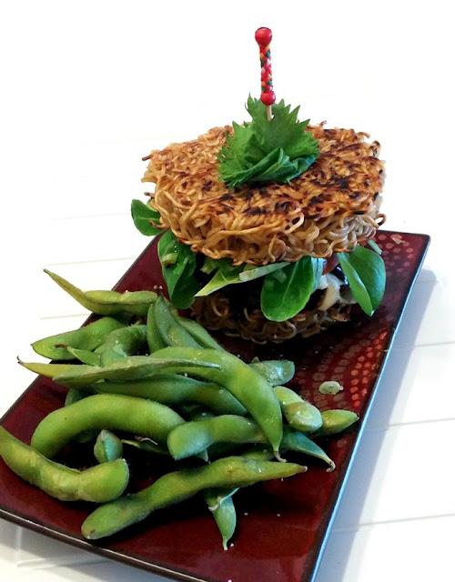 Tampopo-inspired Ramen Burger w/ Teriyaki Sauce by CulturEatz